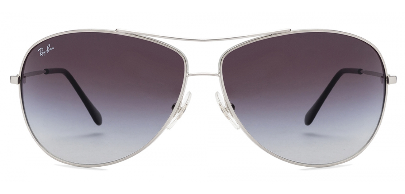 ray ban aviator rb3293 silver 003/8g sunglasses 67mm